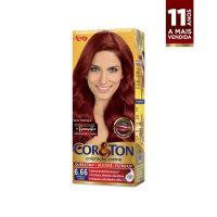 Tintura Cor&Ton Niely Coloração Creme mini kit 6.66 Louro Escuro Vermelho - Cod. 7896000706133