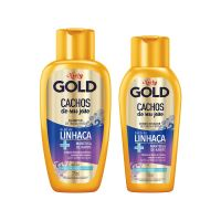 Kit Shampoo 275mL + Condicionador 175mL Niely Gold Cachos do seu jeito - Niely - Cod. 7896000724595