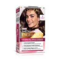 Tintura Permanente Imédia Excellence De  L'Oréal Paris 5.0 Castanho Claro | Caixa com 1 - Cod. 7896014140480