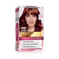 tintura L'Oréal Paris Imédia Excellence 6,66 Louro Escuro Vermelho Intenso - Cod. 7896014140572
