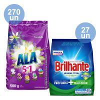 COMPRE 270 Detergente em Pó ALA Flor de Cerejeira e Lavanda 500g   GANHE 27 Lava-Roupas em Pó Roupas Brancas e Coloridas Brilhante Higiene Total Pacote 400g - Cod. C35139