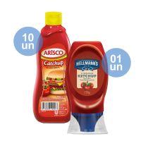 COMPRE 10 Catchup Arisco Tradicional 390g | GANHE 1 Ketchup Hellmann's Squeeze 178g - Cod. C35148