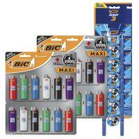 2 Cartelas de Isqueiro BIC Maxi com 12 unidades - Grátis 1 Cartela de BIC3 Acqua - Cod. 70330657793
