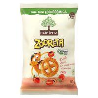 Salgadinho Integral Organico Mãe Terra Zooreta Pizza 87g  | 6 unidades - Cod. C35535