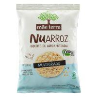 Biscoito de Arroz Integral Mãe Terra Organico Nuarroz 35g | 6 unidades - Cod. C35544