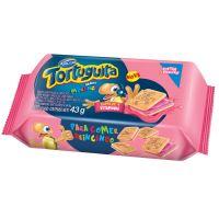 Biscoito Tortuguita Recheado Morango 43g (12 un/cada) - Cod. 7896058200232