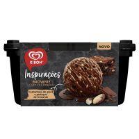 Sorvete Kibon Inspirações Brownie com Castanhas 1,3L | Caixa com 4 - Cod. 7891150074521C4