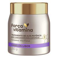Máscara de Tratamento Força Vitamina Cabelo Liso 250g | 3 unidades - Cod. C36455
