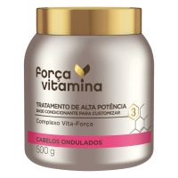 Máscara de Tratamento Força Vitamina Cabelo Ondulado 500g | 3 unidades - Cod. C36456
