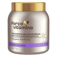 Máscara de Tratamento Força Vitamina Cabelo Liso 500g | 3 unidades - Cod. C36465