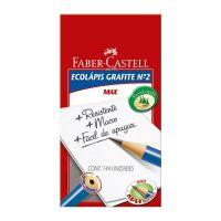 Ecolápis Grafite Faber-Castell Max Azul 1 Cx C/ 144 Un - Cod. 7891360544524