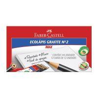 Ecolápis Grafite Faber-Castell Max Preto Redondo 1 Cx C/ 144 Un - Cod. 7891360574200