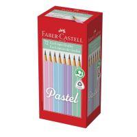 Ecolápis Grafite Faber-Castell Tons Pastel 1 Cx C/ 72 Un | Caixa com 1 - Cod. 7891360658887