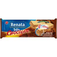 Biscoito Renata Wafer Sabor Chocolate 115g - Cod. 7896022204945C40