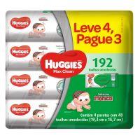 Lenços Umedecidos Huggies Max Clean 48un L4P3 - Cod. 7896018703629