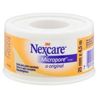 Fita Micropore Bege Nexcare 25 mm x 4,5 m - Cod. 7891040042517