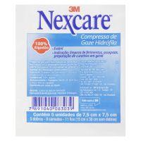 Compressa de Gaze Estéril Nexcare 7,5 cm x 7,5 cm Pacote 5 Unidades - Cod. 7891040083039