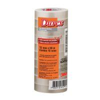 Fita Adesiva Durex Transparente 12 mm x 30 m - 10 rolos - Cod. 7891040149292