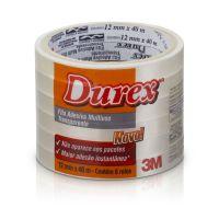 Fita Adesiva Durex Transparente 12 mm x 40 m - 6 rolos - Cod. 7891040149308
