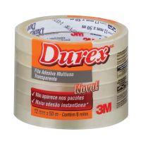 Fita Adesiva Durex Transparente 12 mm x 50 m - 6 rolos - Cod. 7891040149315