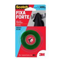 Fita Dupla Face 3M Scotch Fixa Forte Transparente - 12 mm x 2 m - Cod. 7891040075126