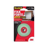 Fita Dupla Face 3M Scotch Fixa Forte Fixação Extrema - 24 mm x 2 m - Cod. 7891040216260