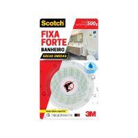 Fita Dupla Face 3M Scotch Fixa Forte Banheiro - 24 mm x 1 m - Cod. 7891040226108