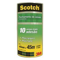 Fita de Empacotamento 3M Scotch Transparente - 45 mm x 45 m - 4 rolos - Cod. 7891040118809