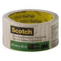 Fita de Empacotamento 3M Scotch Transparente - 45 mm x 45 m - 1 rolos - Cod. 7891040226863