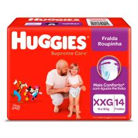 Fralda Huggies Supreme Roupinha Jumbo XXG 14un - Cod. 7896007550760