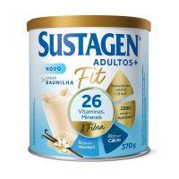 Complemento Alimentar Sustagen Adultos+ Fit Sabor Baunilha - Lata 370g - Cod. 7898941912642