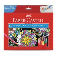 Ecolápis de Cor Faber-Castell 60 Cores - Cod. 7891360641711
