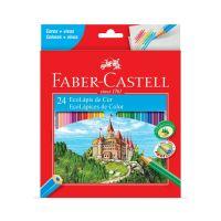 Ecolápis de Cor Faber-Castell 24 Cores - Cod. 7891360320135