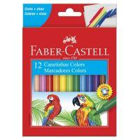 Canetinha Hidrográfica Faber-Castell Estojo com 12 Cores | Caixa com 1 - Cod. 7891360577485