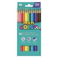 Ecolápis de Cor Faber-Castell Multicolor Super 12 Cores - Cod. 7891360587453