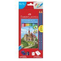 Ecolápis de Cor Faber-Castell Kit Escolar 12 Cores + 2 Ecolápis Grafite + 1 Apontador + 1 Borracha - Cod. 7891360615194