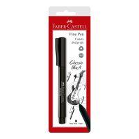 Caneta Ponta Porosa Faber-Castell Fine Pen 0.4mm Preto | Caixa com 1 - Cod. 7891360623311