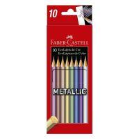 Ecolápis de Cor Faber-Castell Metallic 10 Cores - Cod. 7891360656326