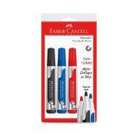 Marcador de Quadro Branco Faber-Castell Ctl c/ 3 Cores - Cod. 7891360667360
