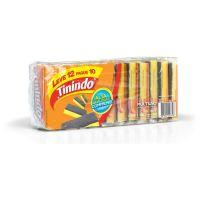 Esponja Multiuso Tinindo Leve 12 Pague 10  Pacotes c/12 | Caixa com 1 - Cod. 7891040227716