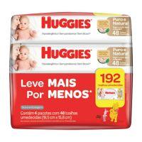 Lenços Umedecidos Huggies Puro e Natural 192un - L4P3 - Cod. 7896018704022