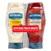 Kit Ketchup 380g + Maionese 335g Hellmann's Leve Mais Pague Menos - Cod. 7891150079960