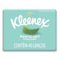 Lenço de Papel Kleenex Ultrasuave Mentol Box 40un - Cod. 7702425808973
