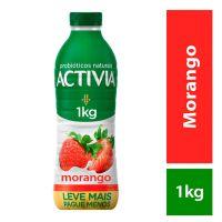 Leite Fermentado Activia Líquido Morango 1000g - Cod. 7891025112914