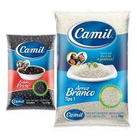 Combo Compre 6 Arroz Camil Branco + 10 Feijão Camil Preto e ganha 3% de Desconto - Cod. C42634