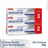 Kit Leve 3 Pague 2 Sensodyne Extra Fresh Creme Dental para Dentes Sensíveis 50g - Cod. 7896015521462