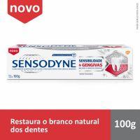 Sensodyne Sensibilidade & Gengivas Whitening Creme Dental para Dentes Sensíveis e Sangramentos na Gengiva com 100g - Cod. 7896015591779