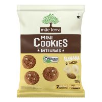 Cookie Integral Orgânico Mãe Terra Banana e Cacau 120g - Cod. 7896496980888