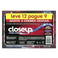 Oferta Gel Dental CloseUp Fresh Action Red Hot 90g Leve 12 Pague 9 - Cod. 7891150061736