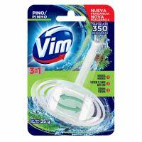 Bloco Sanitário VIM 3 em 1 Pinho 35g - Cod. 7791290013797